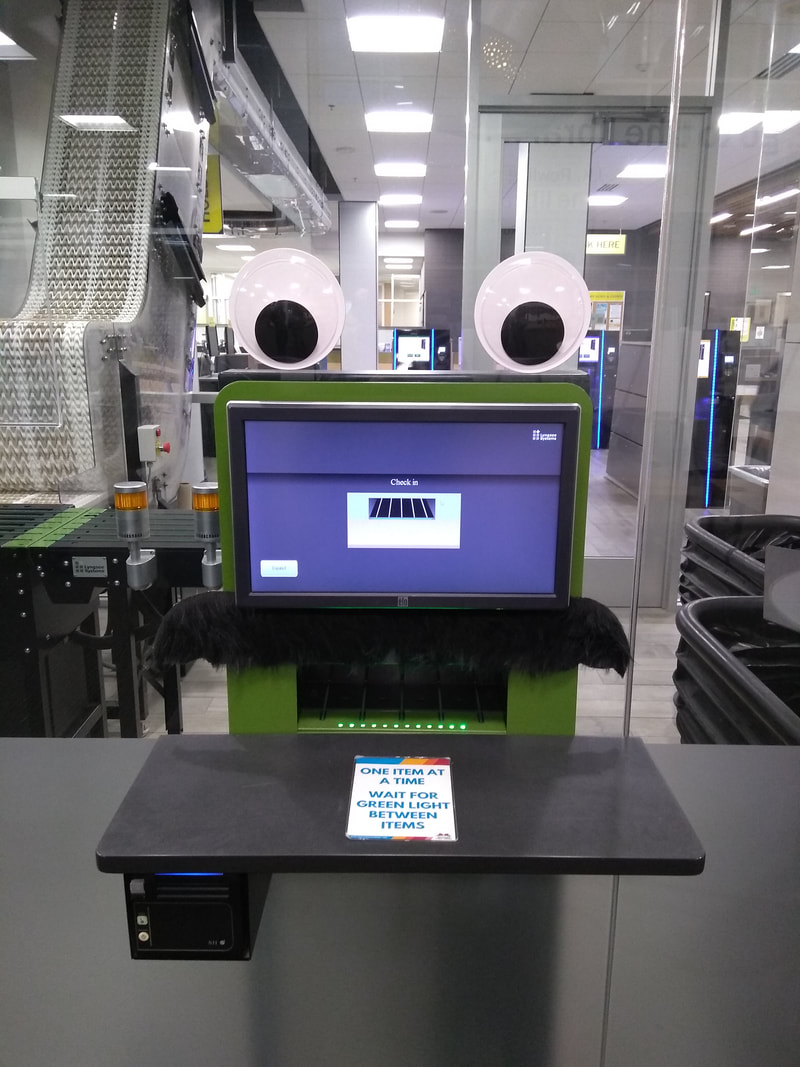 Picture of the return book machine